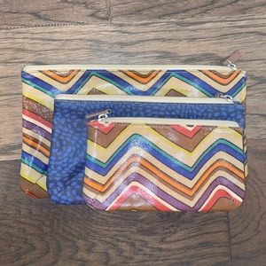 Set of 3 Fossil cosmetic/travel bags.